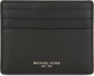 b3e5e59fff011 MICHAEL KORS - Harrison leather card holder