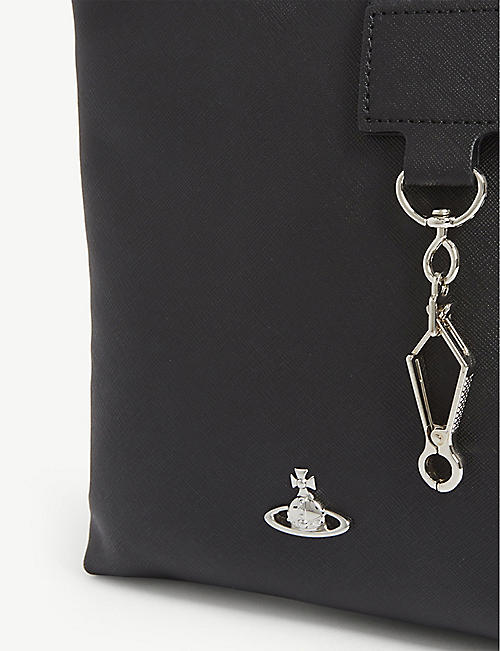 VIVIENNE WESTWOOD Grained leather crossbody bag