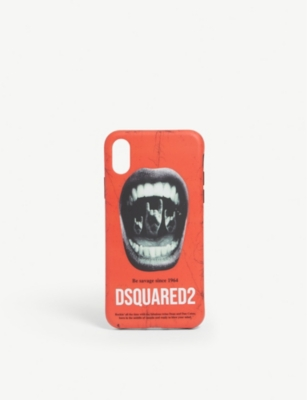 DSQUARED2 Mouth-print iPhone X case