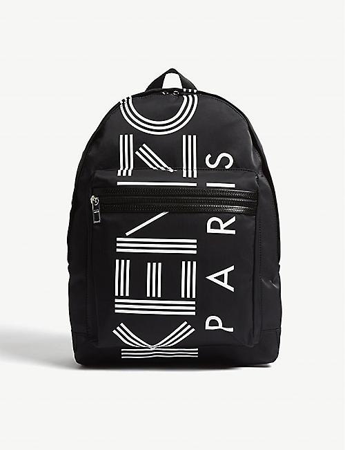 3e4209d36293 KENZO Striped logo zipped backpack