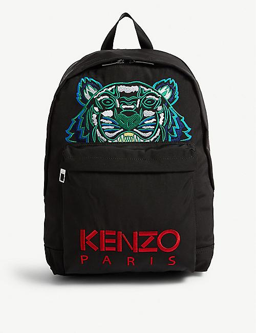 f30dca9ef53 KENZO - Tiger logo backpack | Selfridges.com