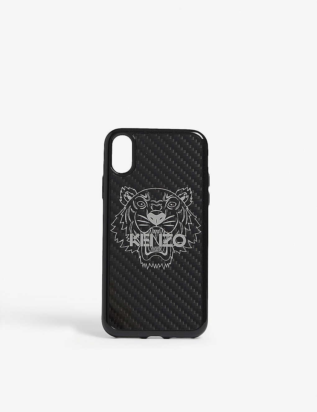 578058cd KENZO - Tiger holographic carbon fibre iPhone X case | Selfridges.com