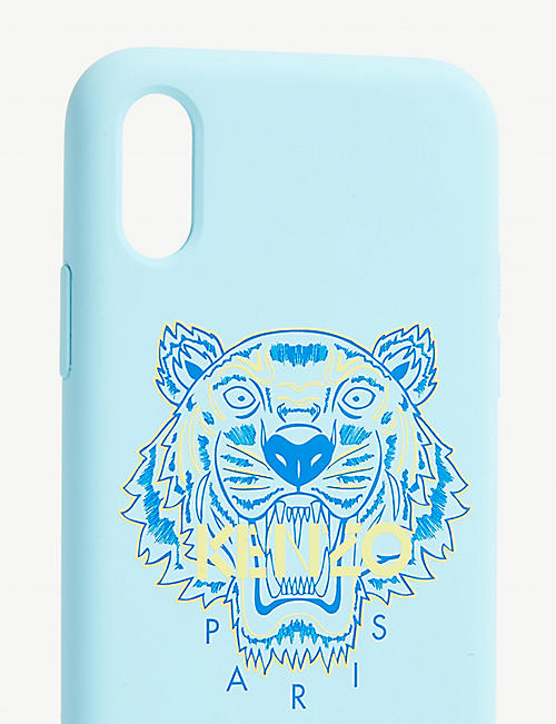 KENZO Tiger logo silicone iPhone X case