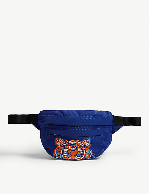 KENZO Logo-embroidered shell belt bag