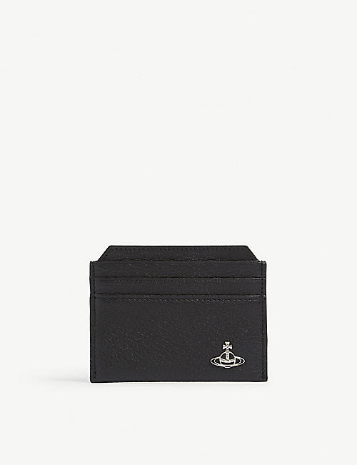 f98a044db84 VIVIENNE WESTWOOD Milano grained leather card holder
