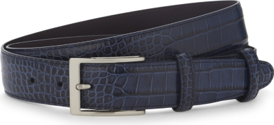 ELLIOT RHODES Caribe crocodile-effect leather belt