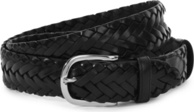 ELLIOT RHODES Leather woven belt