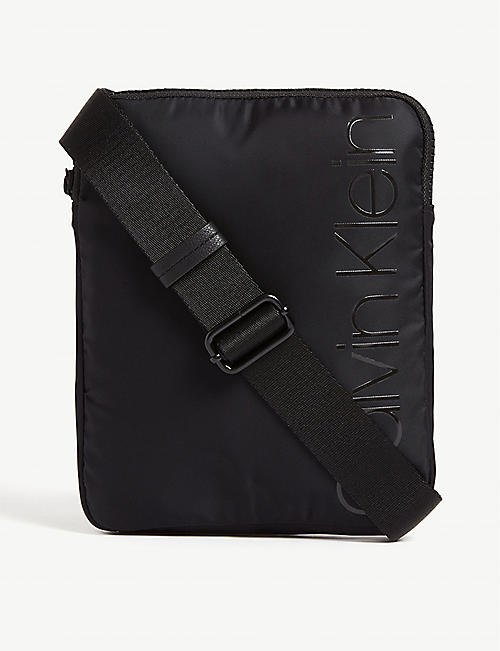 CALVIN KLEIN Trail nylon flat messenger bag