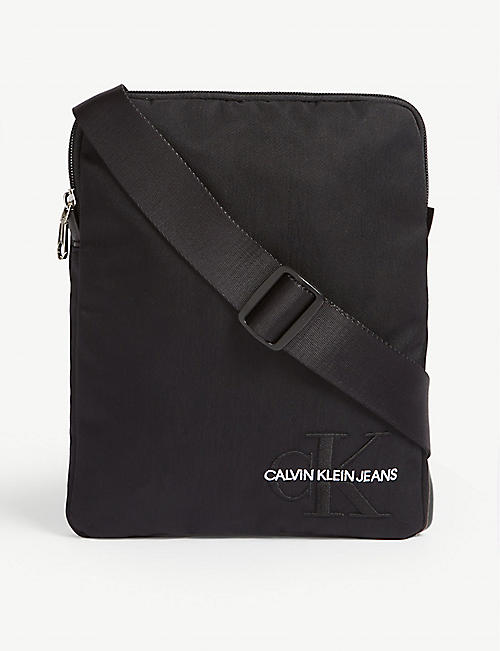 CALVIN KLEIN Monogram nylon cross-body bag