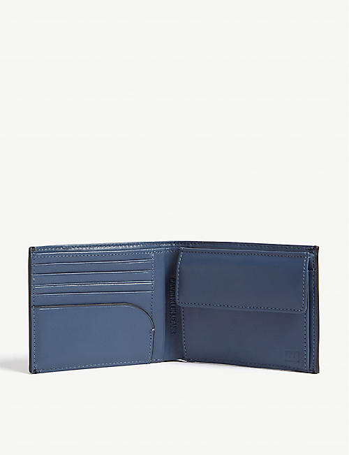 CALVIN KLEIN Logo leather billfold wallet
