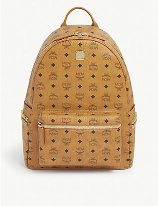 MCM: Stark medium coated-canvas backpack