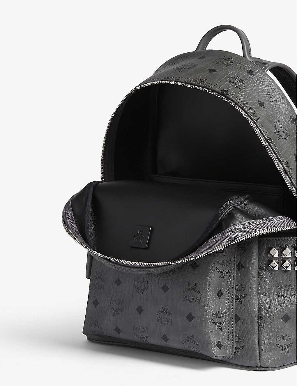 49b3e6702281 ... Stark side studs leather backpack - Phantom grey zoom