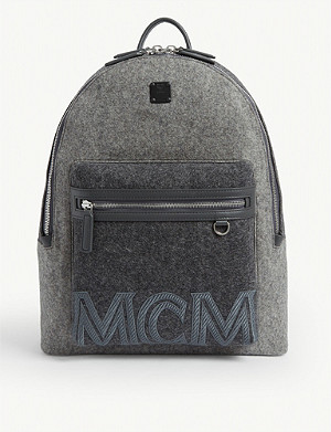 MCM Stark loden stone-effect backpack