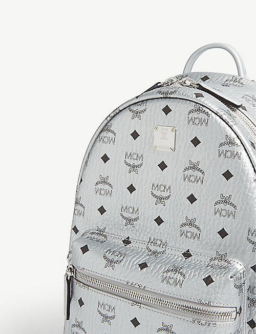 b56a7604a6 MCM Stark Visetos coated canvas metallic mini backpack
