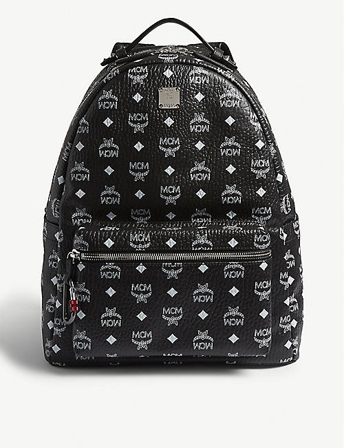2597dce7854 MCM Studded Visetos canvas backpack