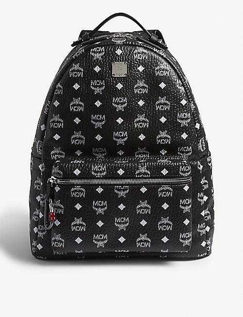7a6152e2d43 MCM Studded Visetos canvas backpack