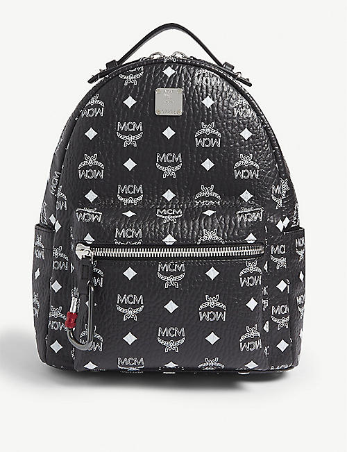 8505a8192 MCM Stark Visetos coated canvas backpack