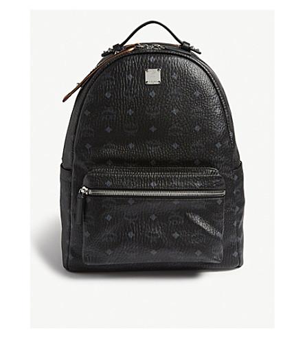 MCM - Studded Visetos canvas backpack  c9eee25c41cc9