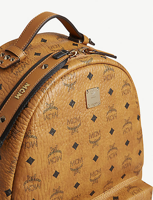 MCM Studded Visetos canvas backpack