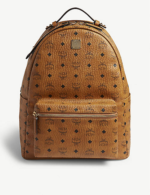 MCM Studded Visetos canvas backpack 37215a430794