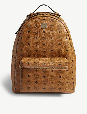 MCM - Stark semi-medium coated-canvas backpack  98bf22a01186f