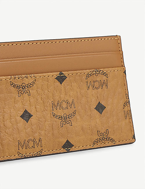 MCM Coated canvas card holder