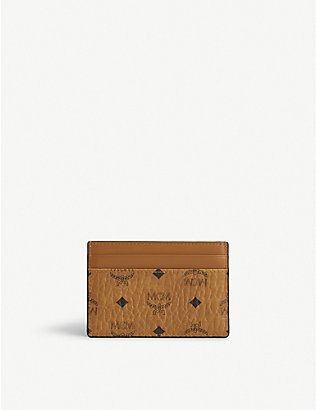 MCM: Coated canvas card holder