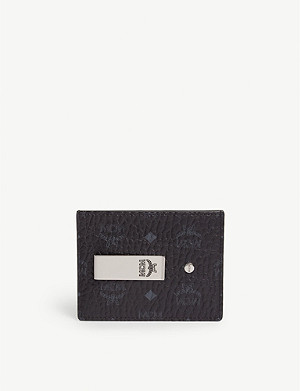 MCM Visetos coated canvas money clip card holder