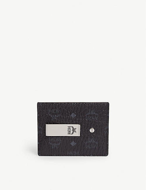 MCM: Visetos coated canvas money clip card holder