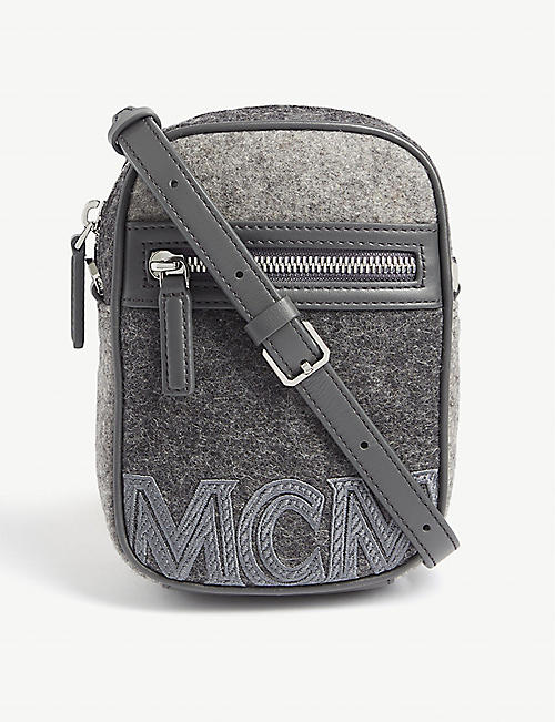 MCM Loden stone-effect crossbody bag