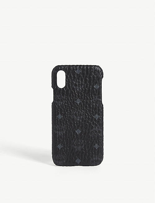 MCM: Visetos coated canvas iPhone X case