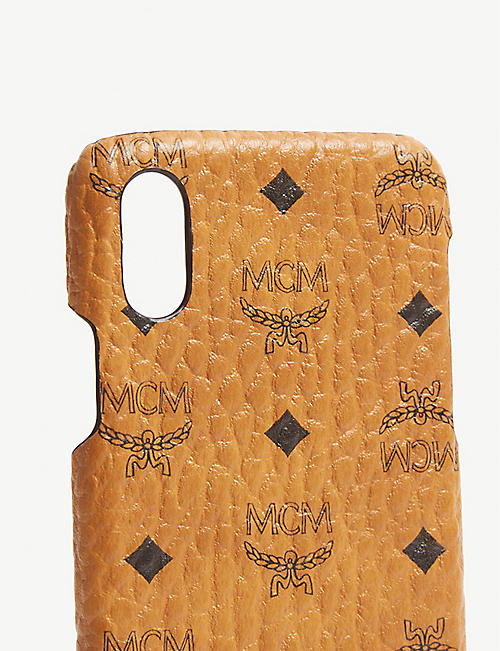 MCM Visetos coated canvas iPhone X case