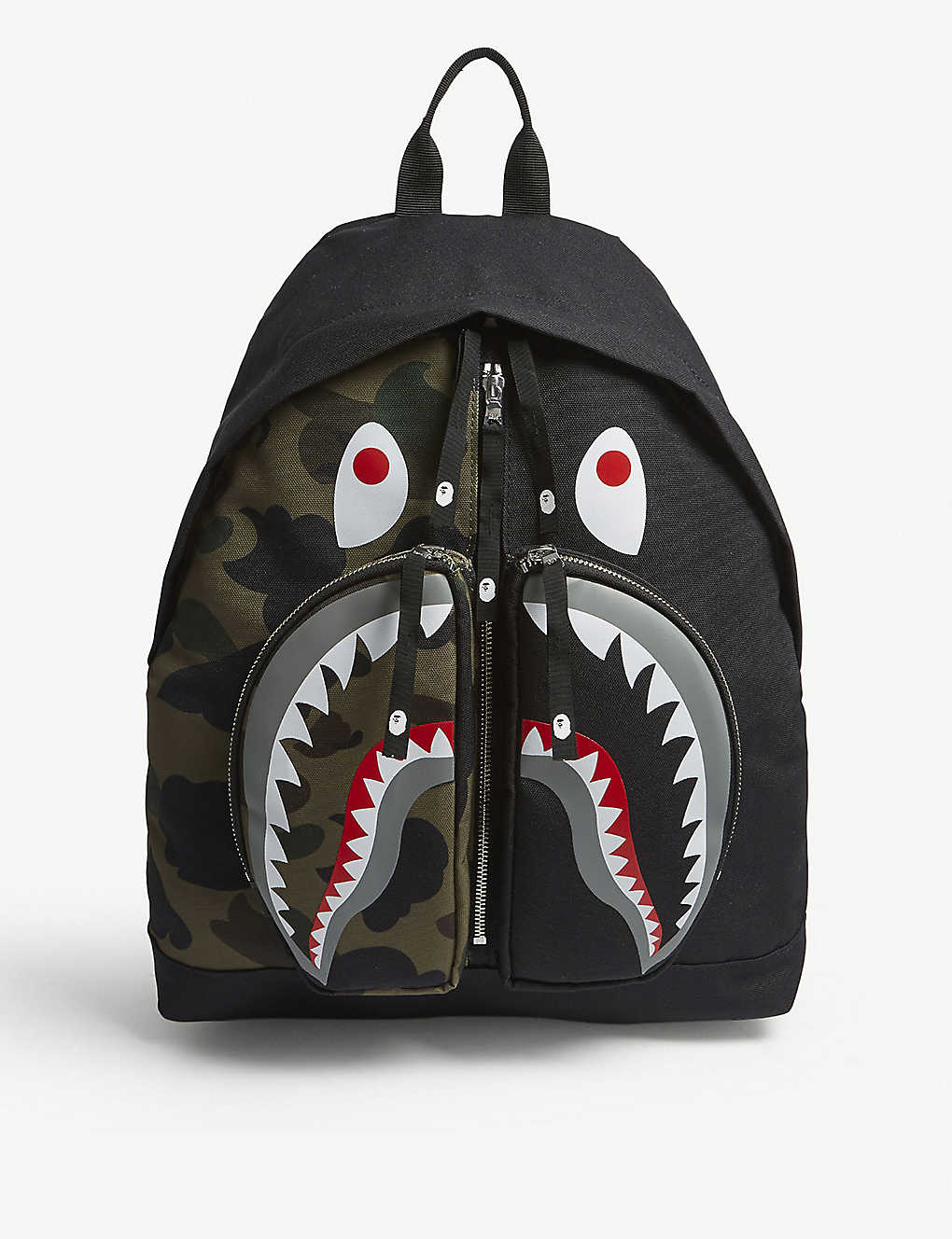 Bape Shark Backpack >> A Bathing Ape 1st Camo Shark Backpack Selfridges Com
