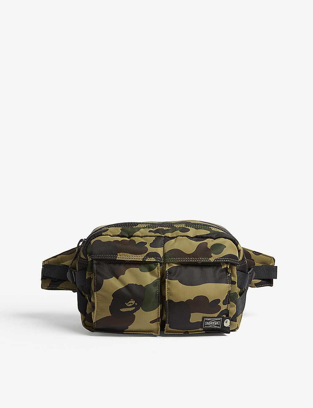 ce5008d5143 A BATHING APE - Porter 1st Camo nylon bum bag