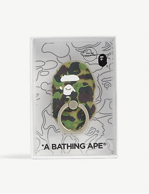 A BATHING APE Ape head camouflage rubber phone ring