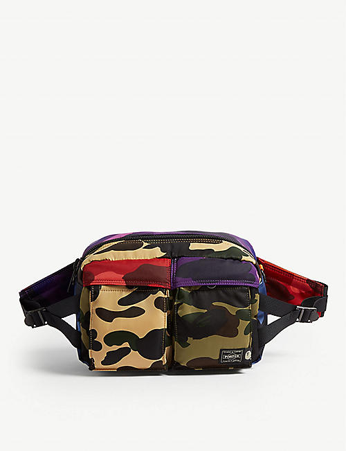A BATHING APE Porter camouflage belt bag