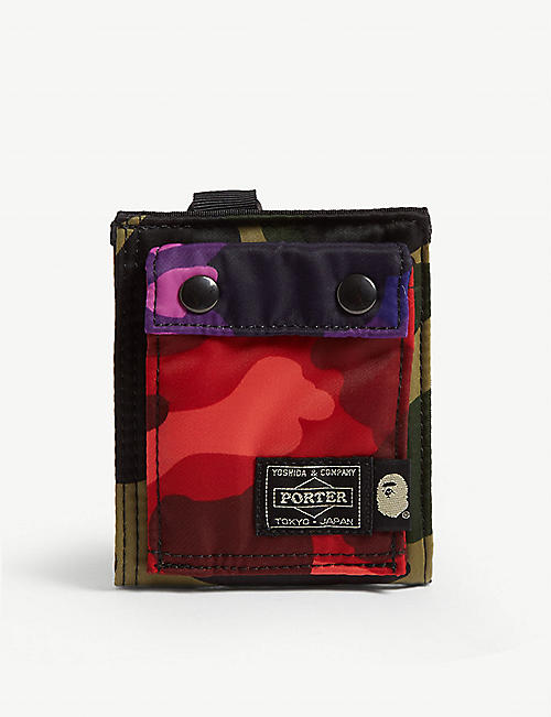 A BATHING APE Mix camouflage-print wallet