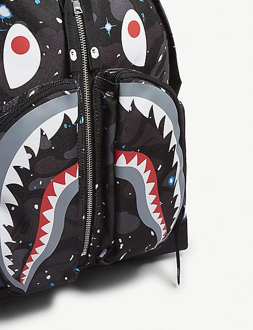 85eb3402ae A BATHING APE Space shark print backpack
