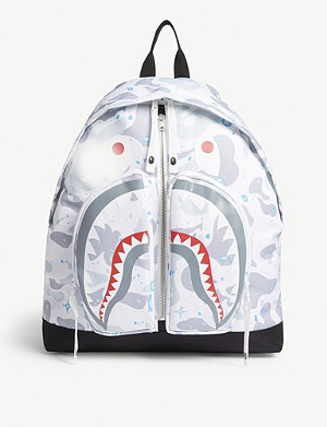 A BATHING APE Space shark print backpack