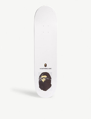 A BATHING APE Space camouflage print skateboard
