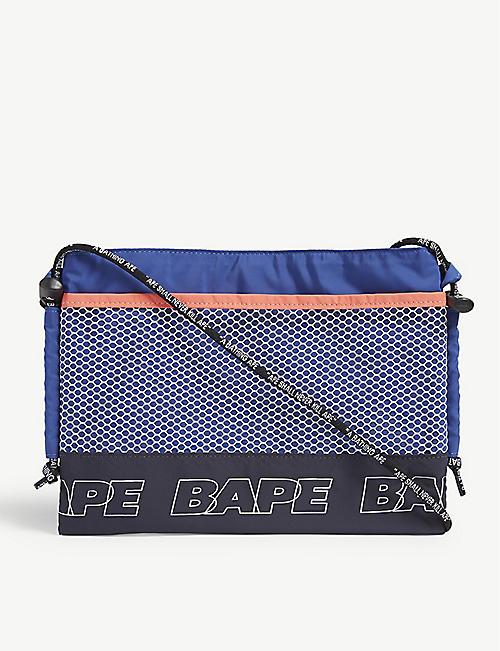 efe73d61851a A BATHING APE Branded cross-body pouch