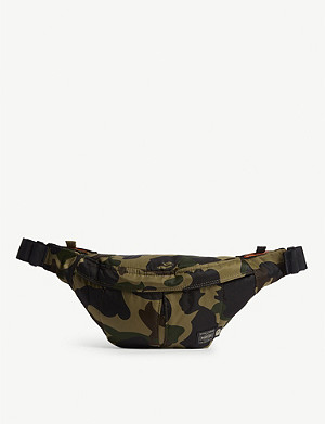 A BATHING APE Bape x Head Porter camouflage print belt bag