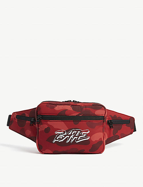 A BATHING APE Camouflage print belt bag