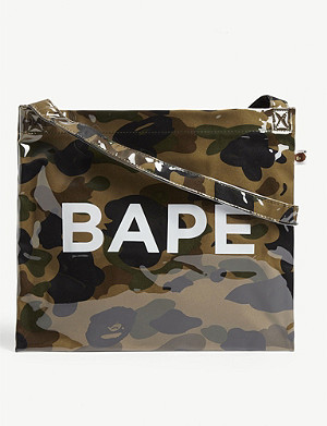 A BATHING APE Camouflage medium shoulder bag