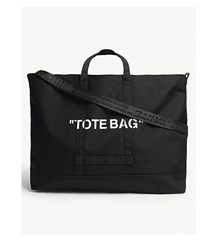 532e04d2421a ... OFF-WHITE C O VIRGIL ABLOH Quote tote bag (Black+white. PreviousNext