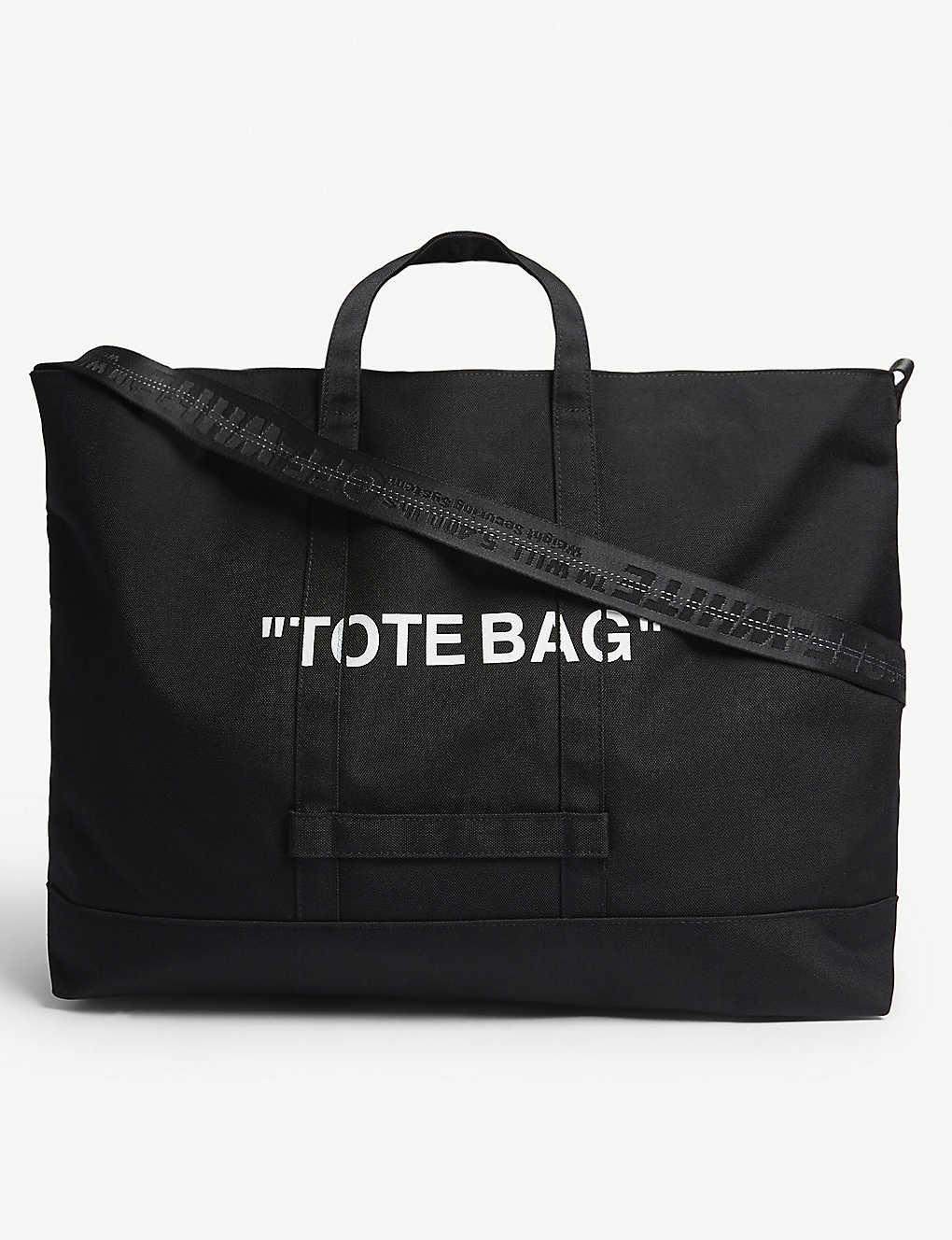 565c6d3d3b3965 OFF-WHITE C/O VIRGIL ABLOH - Quote tote bag | Selfridges.com