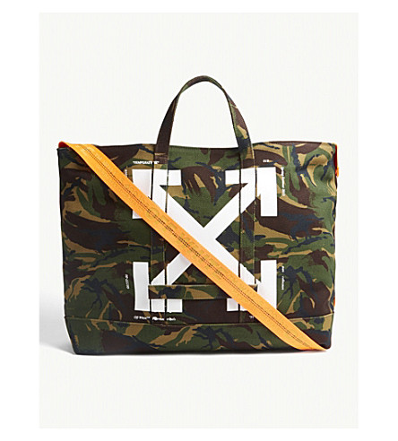 d964c7a0f7ce ... OFF-WHITE C O VIRGIL ABLOH Camouflage canvas tote (All+over+.  PreviousNext