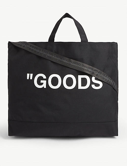 OFF-WHITE C/O VIRGIL ABLOH: 'Goods'' canvas tote bag