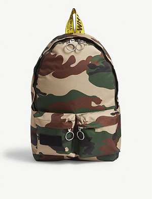 OFF-WHITE C/O VIRGIL ABLOH Camouflage canvas backpack