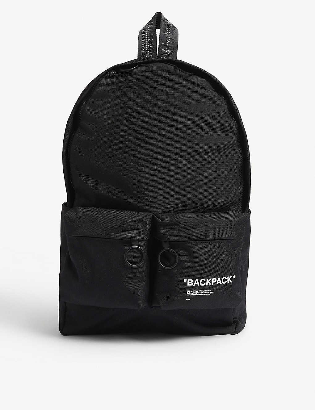 6d87e31426a9e1 OFF-WHITE C/O VIRGIL ABLOH - Quote backpack | Selfridges.com